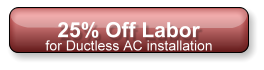 25% Off Labor with any HVAC installation and repair